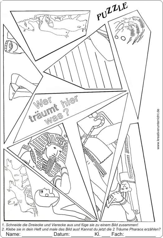 Josef deutet die Träume Pharaos - Puzzle