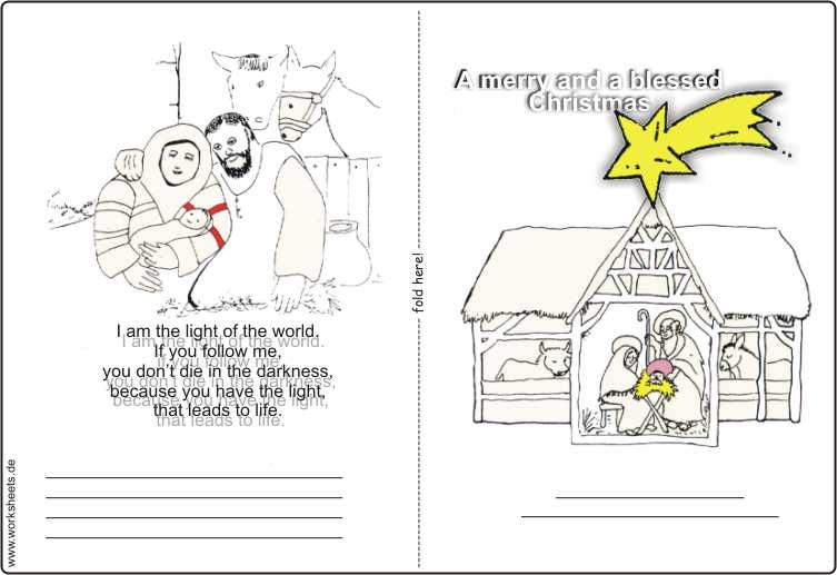 Weihnachtskarten Malen.Weihnachtskarten Kostenlos Basteln Und Malen Zu Weihnachten